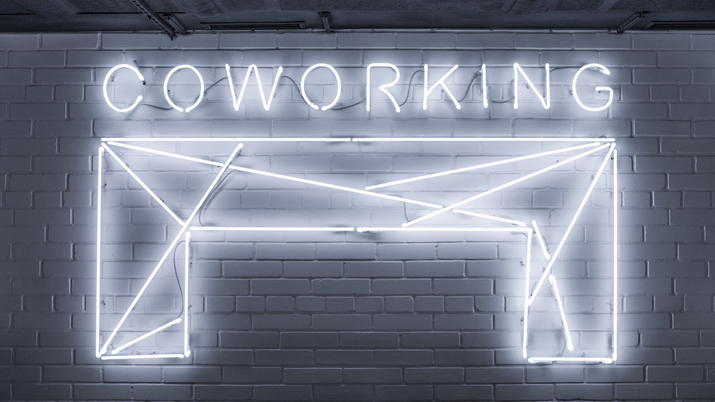 Co working neon sign