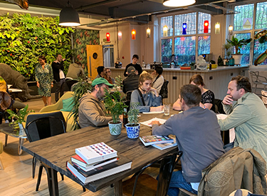 People in the Use. Cafe